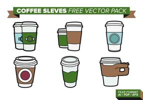 Kaffee Ärmel Free Vector Pack