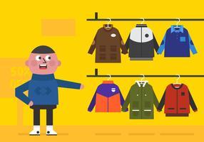 Junge Winter Mantel Vektor Verkauf
