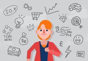 Vector Entrepreneurship Frau