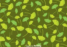 Grünes Ginko Biloba Muster vektor