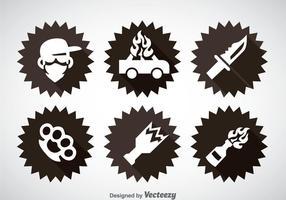Gangster Element Icons Vektor