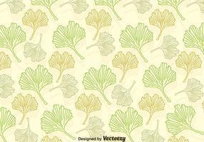 Ginkgo Blätter Muster vektor