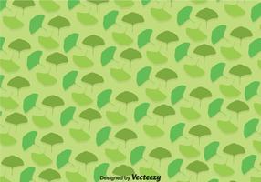 Ginko Green Blätter Muster vektor