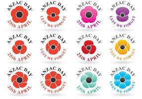 Anzac Day Logo Vektoren