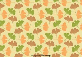 Ginko Biloba Blätter Muster Vektor