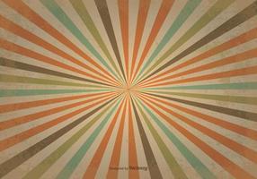 Gamla Retro Sunburst Bakgrund vektor