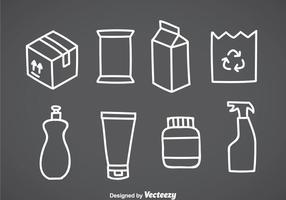 Paket vita ikoner vektor
