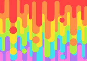 Freier Regenbogen-Leck-Vektor