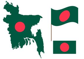 Gratis Bangladesh Karta Vector
