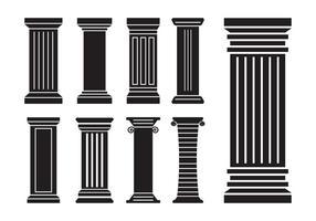 Römische Säulenvektoren vektor
