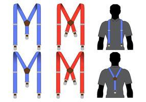 Mäns Suspendersvektorer vektor