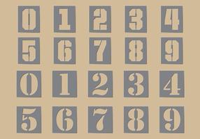Stencilnummervektorer vektor