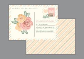 Vektor-Postkarte vektor