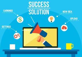 Freier Erfolg Lösung Vektor