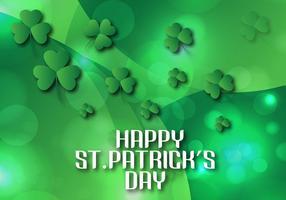 Shining Sts Patrick dag bakgrund Vektor illustration