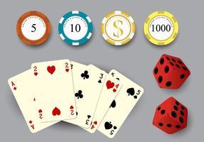 Gambling Stuff Vektor Set