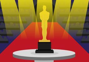 Oscar Statue Utmärkelser Illustration Vektor