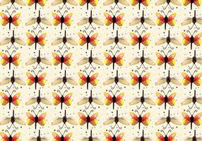 Gratis vektor vattenfärg fjäril mönster