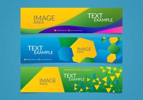 Brasil Olympics Banners Vectorial Redigerbara vektor
