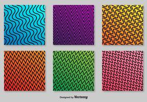 Retro zigzag vektor mönster