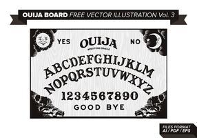 Ouija Board Kostenlose Vektor-Illustration Vol. 3 vektor