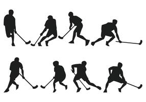 Unihockey Silhouette vektor