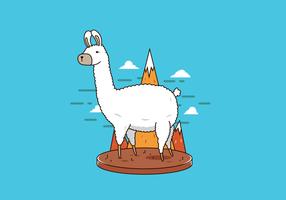 Freier Lama-Vektor vektor