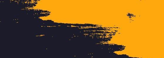 abstrakt orange och svart akvarell banner design vektor