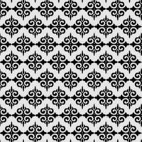 Schwarz-Weiß-Fleur de Lis-Ornamentspaten geometrische Hintergrundtapete