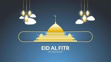 eid al-fitr gyllene moské