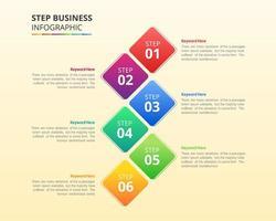 Business-Infografik-Design in Schritten oder Optionen