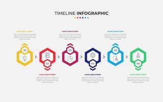 buntes Infografik-Design der Zeitachse vektor