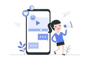 video marknadsföring och reklam vektor