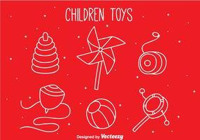 Barn Leksaker Hand Rita ikoner
