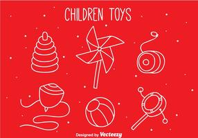 Kinder Spielzeug Hand Draw Icons