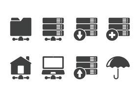 Minimalistisches Server-Symbol