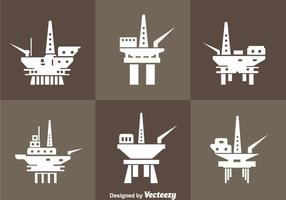 Öl Rig Offshore Icons