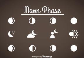 Mondphasen-Ikonen-Vektor vektor
