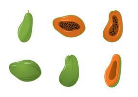 Gratis Papaya Vector Illustration