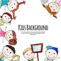 tillbaka till skolan glada barn design