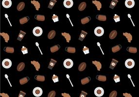 Freier Kaffee-Muster-Vektor