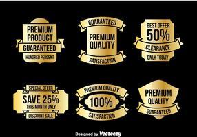 Gold Etiketten Vektor Sets