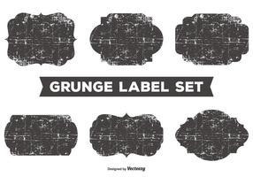 Unordentlich Grunge Label Set vektor