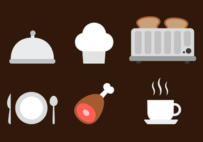 Kostenloses Restaurant Elements Vector