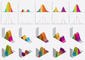 Plana och isometriska klockkurvor vektor