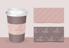 Kaffee Hülle Vektor