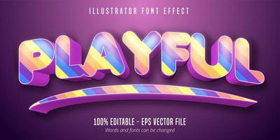 verspielter Text, bunter bearbeitbarer Schrifteffekt 3d vektor