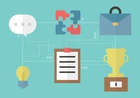 Unternehmerische Prozess-Vektor