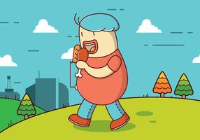Free Fat Guy Vektor Hintergrund