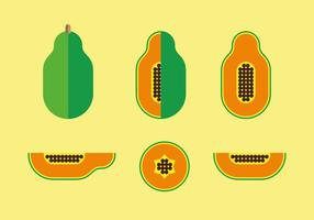 Platt stil papaya illustration vektor